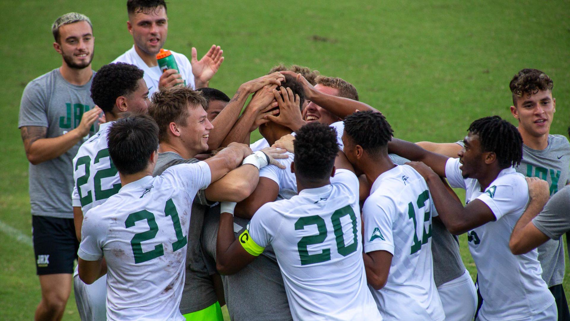 Jacksonville University men win home opener