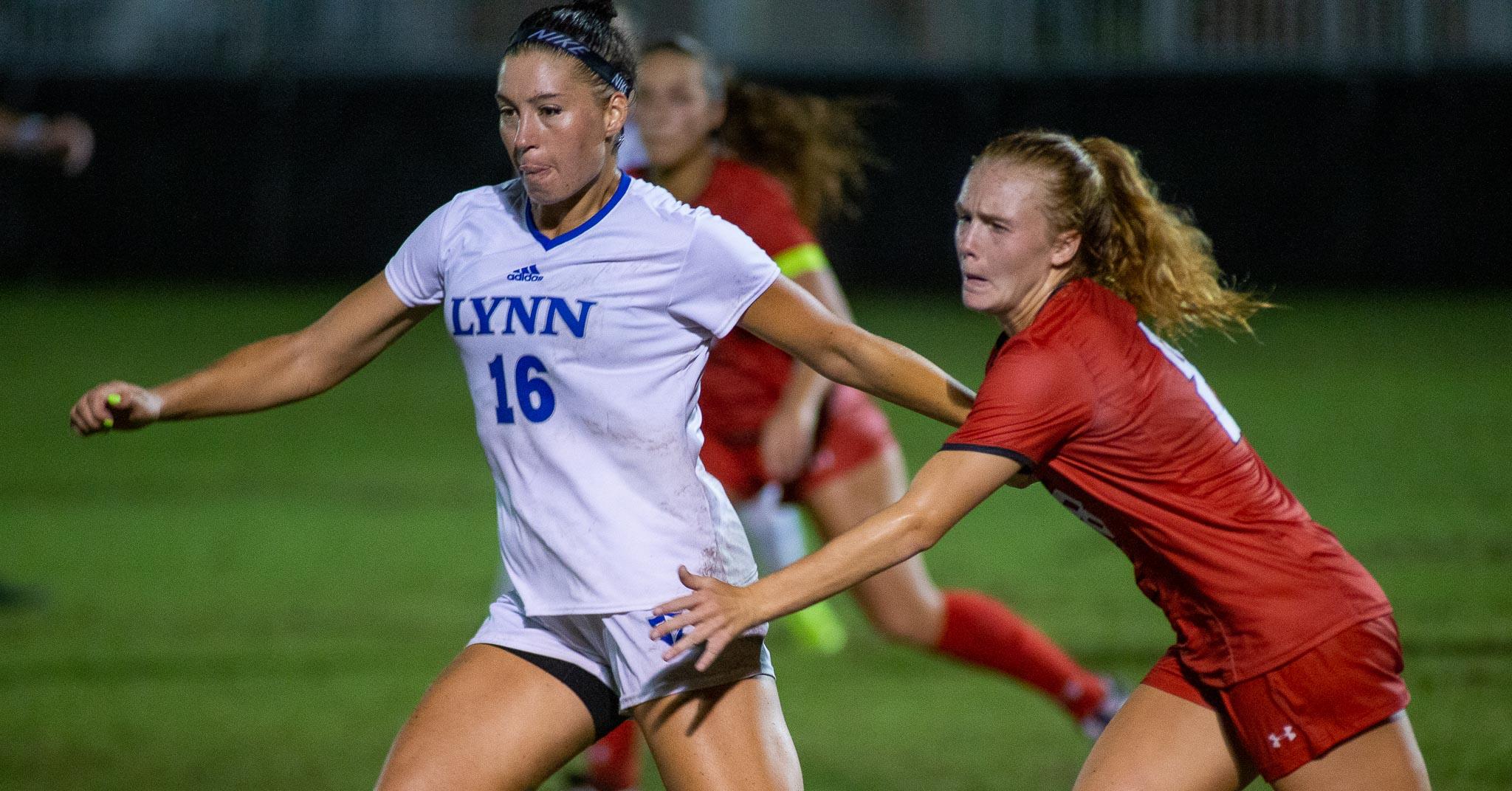Lynn University at Flagler College women's soccer match on Wednesday, Sept. 8, 2021